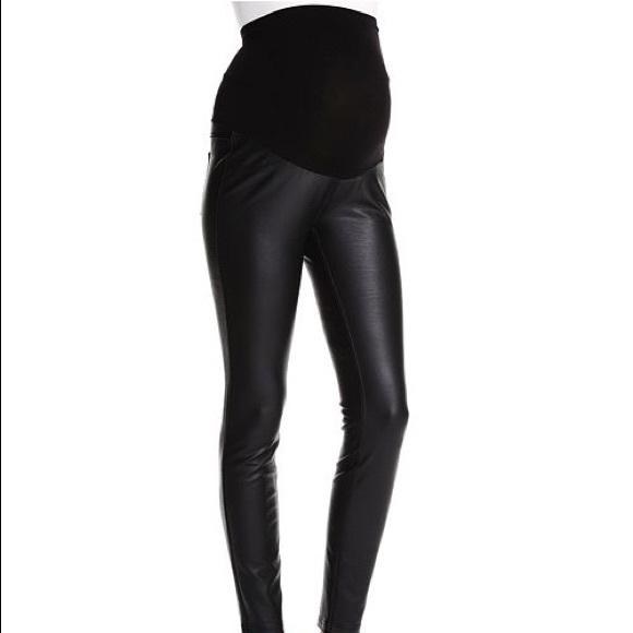 Jessica Simpson Pants Jumpsuits Jessica Simpson Faux Leather Maternity Leggings Poshmark